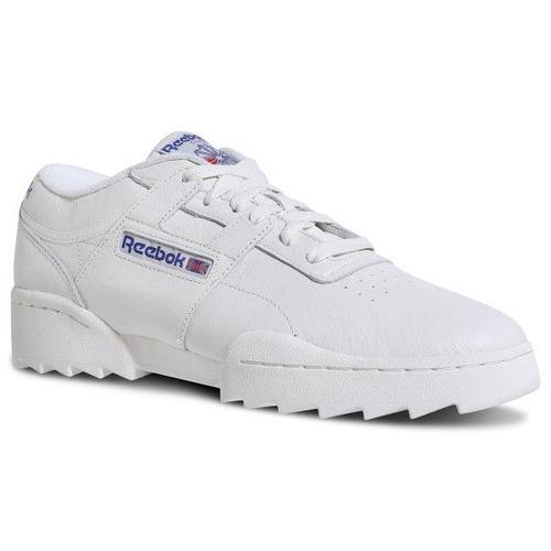Кроссовки мужские оригинальные Reebok Workout Ripple OG кожаные белые