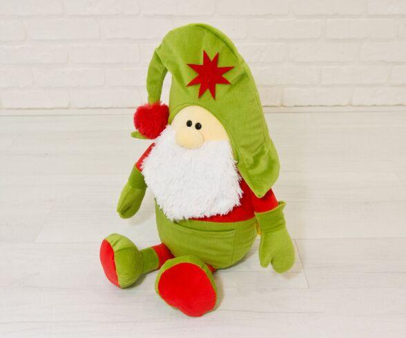 Мягкая игрушка Kidsqo гномик Санта 53см оливково-красный (1773)