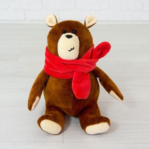 Мягкая игрушка Kidsqo медведь Джой 20см коричневый (626)