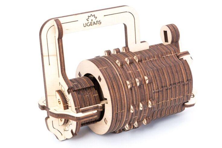 Механический 3D пазл UGEARS Кодовый замок (70020)