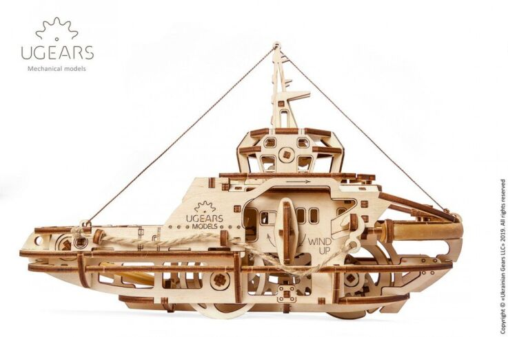 Механический 3D пазл UGEARS Буксир (70078)