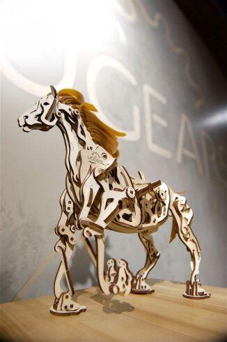 Механический 3D пазл UGEARS Конь-Механоид (70054)