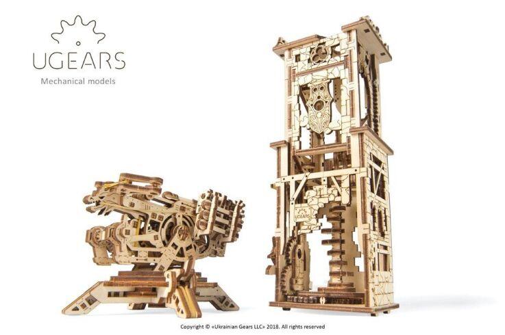 Механический 3D пазл UGEARS Башня-Аркбаллиста (70048)