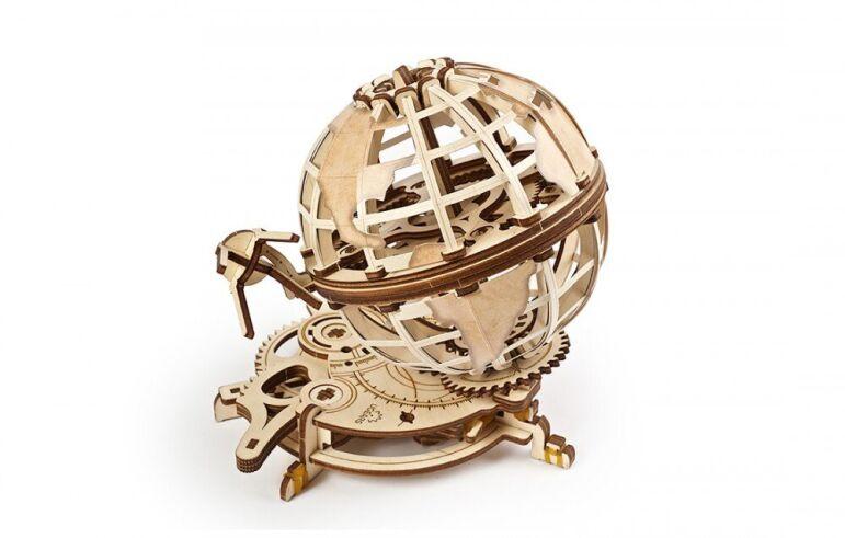 Механический 3D пазл UGEARS Глобус (70128)