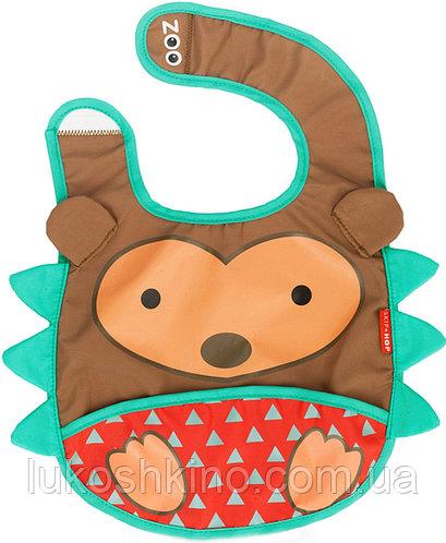 Слюнявчик детский Zoo Ежик коричневый (2308)