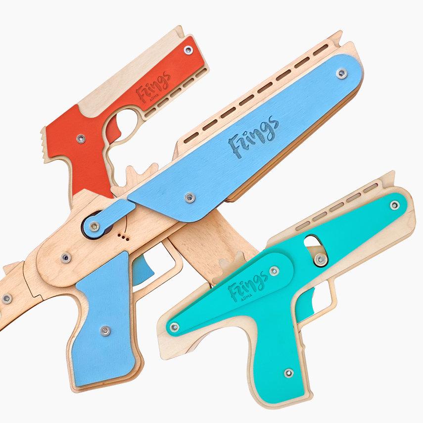 """Набор резинкострелов """"Королевская битва"""": игрушечные пистолет-пулемет, автомат, пистолет"""