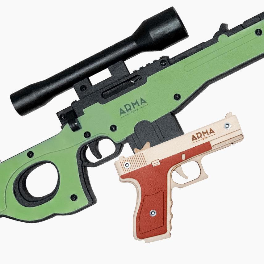 """Спецназ полиции - 1: снайперская винтовка AWP и пистолет """"Глок"""" из дерева"""