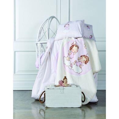 Постельное белье для младенцев Karaca Home - Bulut ранфорс розовое Турция
