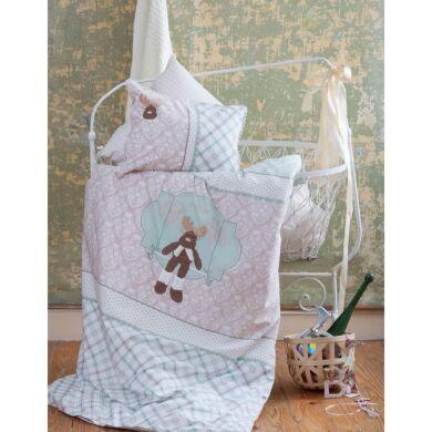 Постельное белье для младенцев Karaca Home - Deer аппликация зеленое Турция
