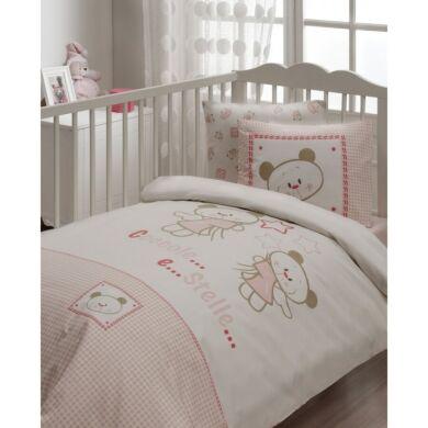 Детский набор в кроватку для младенцев Karaca Home - Stella розовое (7 предметов) Турция