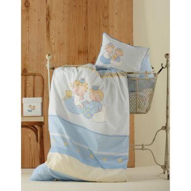Постельное белье для младенцев Karaca Home - Mini перкаль голубое Турция
