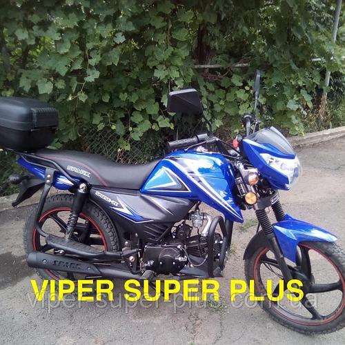 Мотоцикл СПАРК с Доставкой Spark SP125C-2C 125 см , Синий, (Альфа, новый дизайн), Двухместный Дорожный