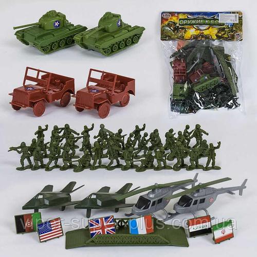"""Военный набор 3036 (96/2) """"Оружие к бою"""" Play Smart, карта, в кульке"""