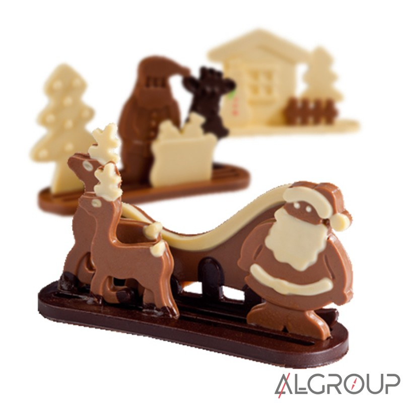 Набор для шоколада из трех форм, Рождество 20-S1010