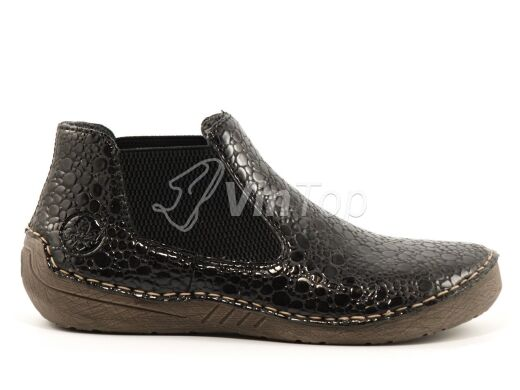 ботинки RIEKER 52584-45 grey, цвет чёрный