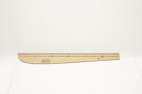 """Лекало """"Шабля"""" з лінійкою, 600х75мм, 509, ХДФ 3мм"""