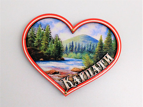 Магніт карпати серце [1] 85х75мм.