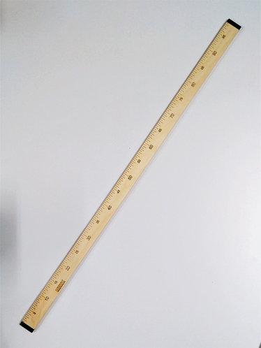 Лінійка кравецька з фанера 100 см двохстороння, ширина 40мм, товщина 10мм
