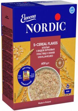 Хлопья овсяные Nordic 5 видов зерновых 600г