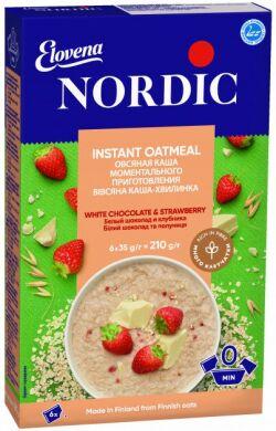 Каша овсяная Nordic белый шоколад и клубника 210г