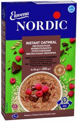 Каша овсяная Nordic темный шоколад и малина 210г