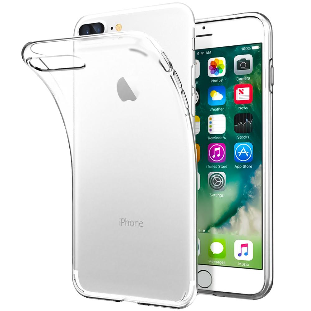Силикон WS Apple iPhone 7 Plus / 8 Plus (прозрачный)