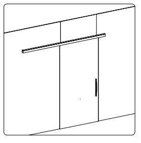 BF-00/Комплект для раздвижной двери/одна створка на стекло