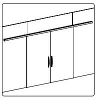 BF-01/Комплект для раздвижной двери/две створки на стекло