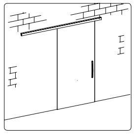 BF-05/Комплект для раздвижной двери/одна створка на стену
