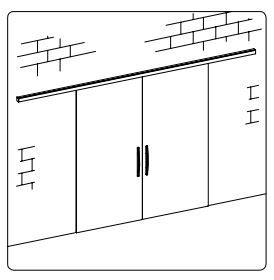 BF-06/Комплект для раздвижной двери/две створки на стену/потолок
