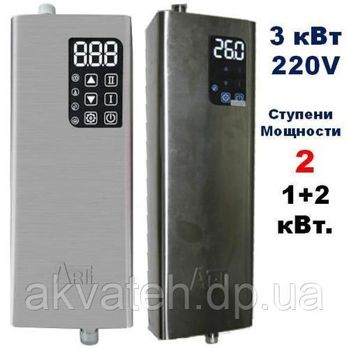 Электрокотел ARTI ES, 3 кВт 220В с нерж. стали, термостатами и защитой от работы без воды