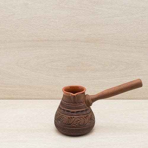 Турка для кофе из красной глины 0,35 л