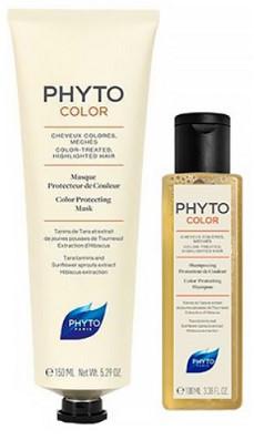 Набор Phyto Phytocolor (Маска для защиты цвета 150 мл + Шампунь для защиты цвета 100 мл в подарок)
