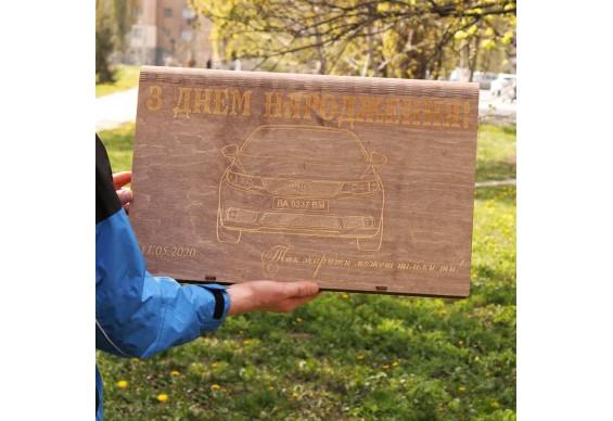 Подарункова коробка Декодім з гравіруванням на 8 шампурів 750x14x3 (DD-35)