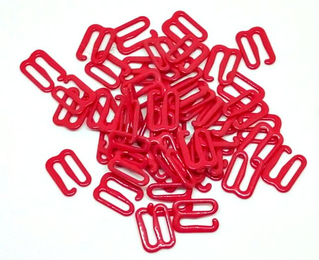 Крючок для бретелей 10 мм металл красный 10 мм