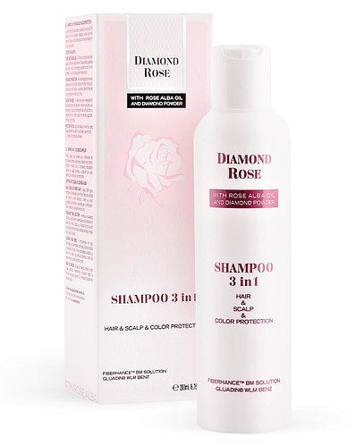 Шампунь 3 в 1 комплексный уход DIAMOND ROSE