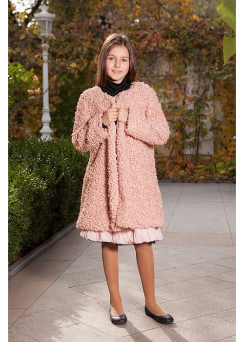 Пальто-накидка цвета пудры