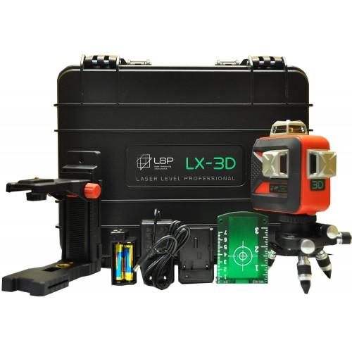 Лазерный уровень LSP LX-3D MAX OSRAM GREEN PRO
