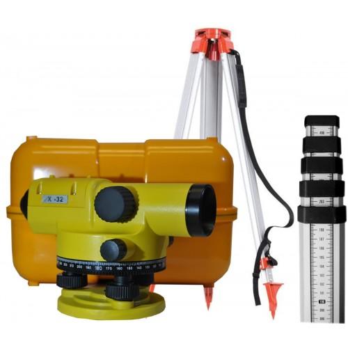 Нивелир оптический LSP X 32 с НДС + штатив + рейка 3 м