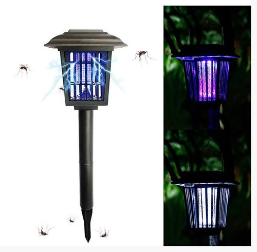 Светильник для уничтожения насекомых, газонный на солнечной батарее с выключателем LED Lemanso LM3409