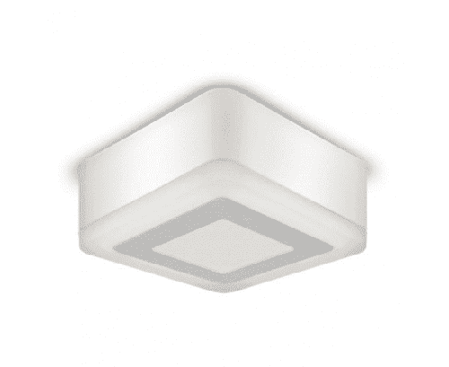 Светильник LED квадрат накладной 3+3W 4000K 105*105
