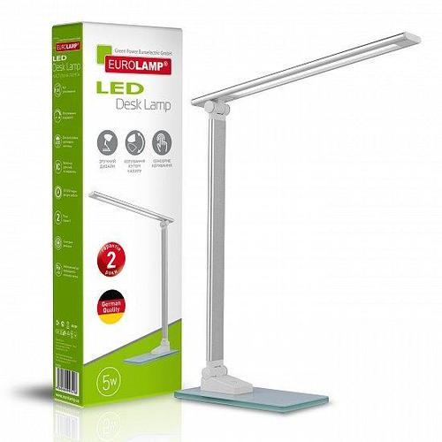 Светодиодный настольный светильник EUROLAMP LED в стиле хайтек 5W 5300-5700K (silver)