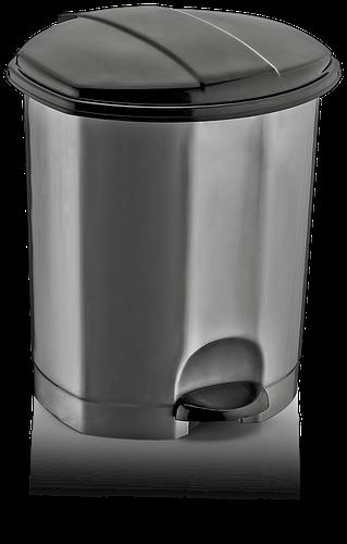 Ведро мусорное с педалью DUNYA PLASTIK ТУРЦИЯ (23,1 x 22,8 x 28,2 СМ) 7 л. 01011