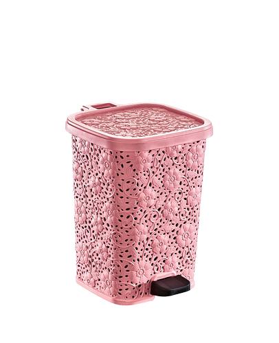 Ведро мусорное Цветок с педалью DUNYA PLASTIK ТУРЦИЯ (20 x 21 x 27 СМ) 6л. 01152