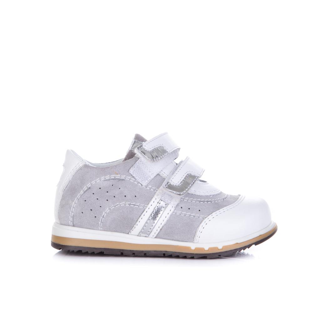 Кроссовки серо-белые для девочки