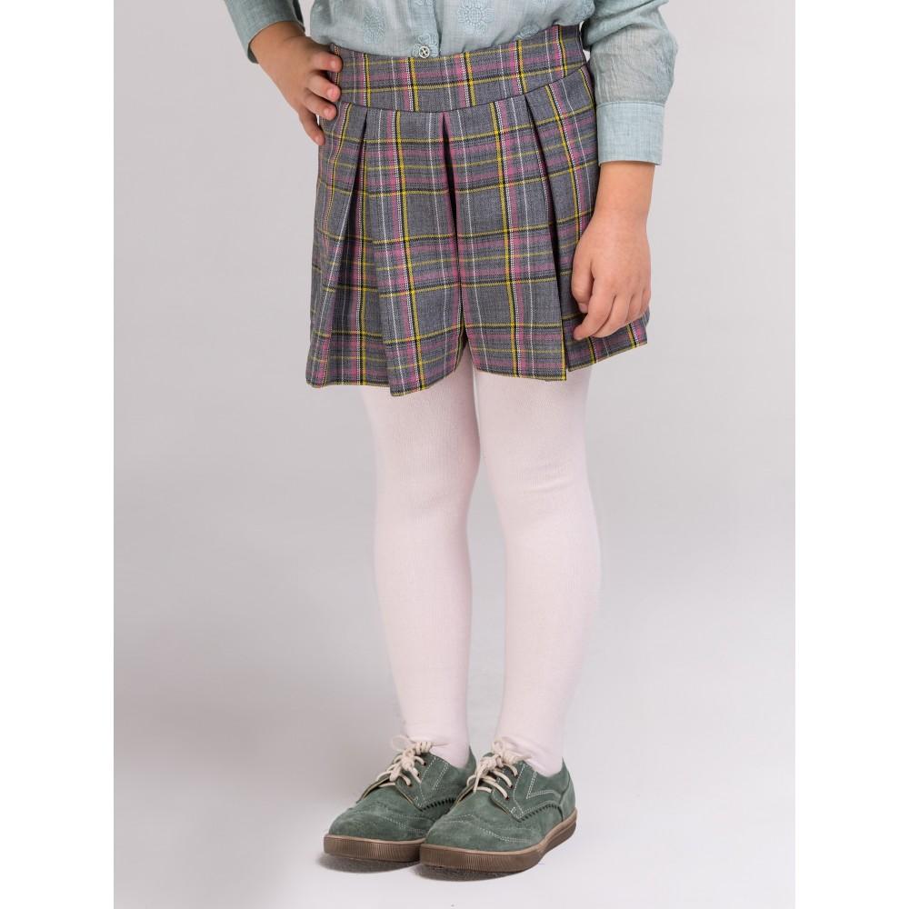 Юбка-шорты серая