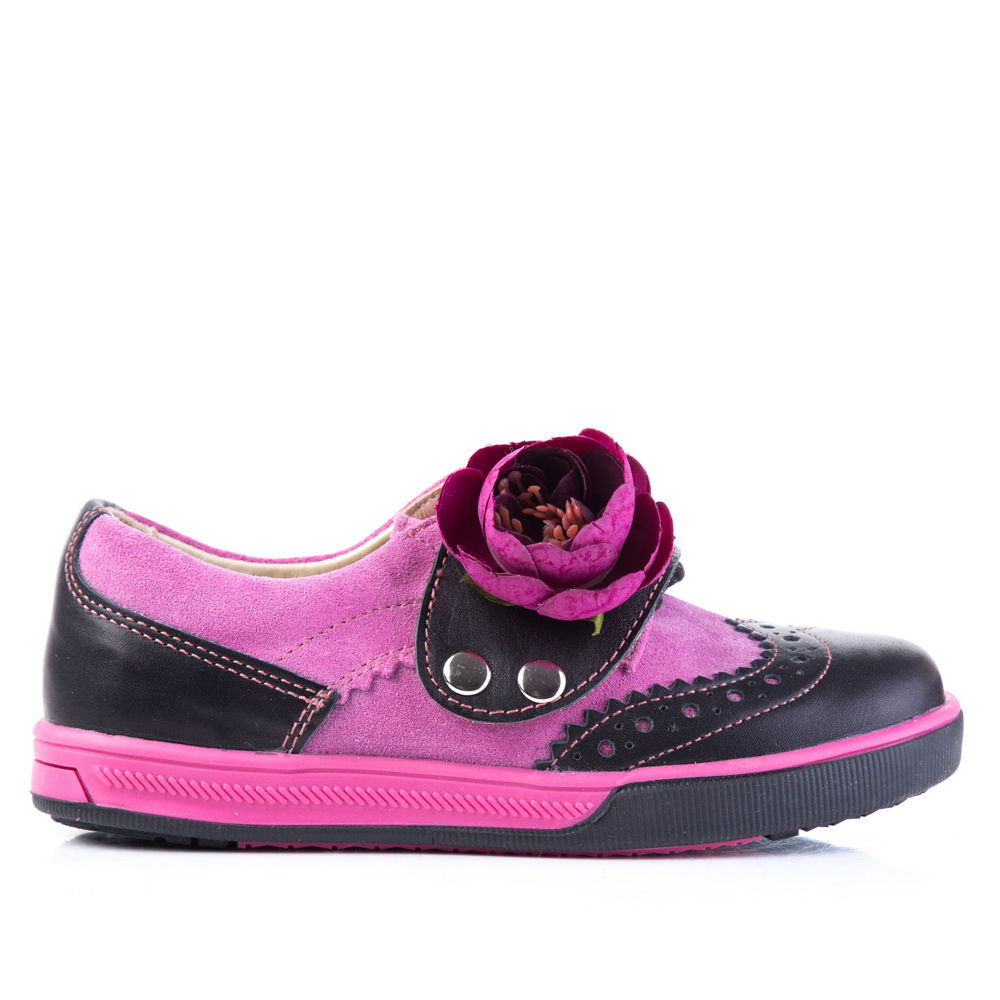 Броги чёрно-розовые для девочки