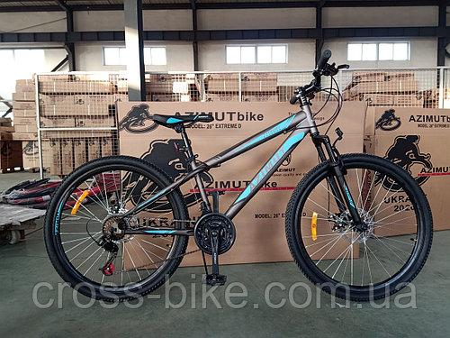Горный взрослый велосипед Azimut Extreme 26 Азимут Екстрим 26 дюймы +