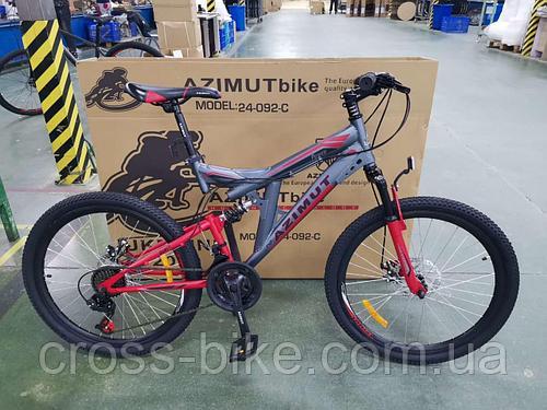 Взрослый горный велосипед Azimut Power 26 дюймы Азимут 19 рама +