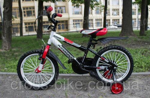 Детский двухколесный велосипед Azimut Stitch 16 дюймов велосипед для мальчика